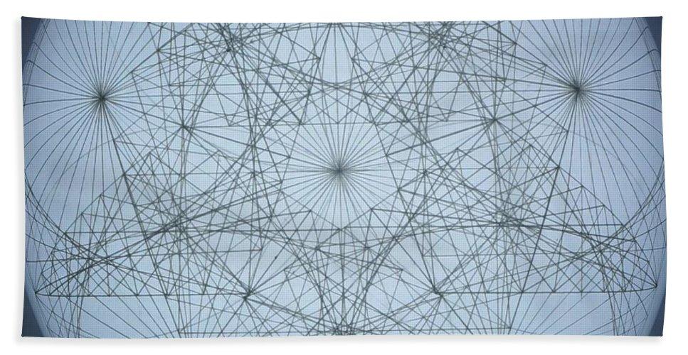 Star Beach Towel featuring the drawing 3D Quantum Star by Jason Padgett