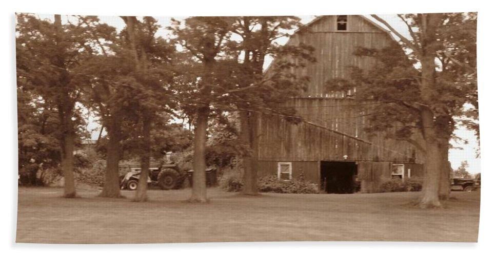 Farm Beach Towel featuring the photograph A Farmers Life by Rhonda Barrett