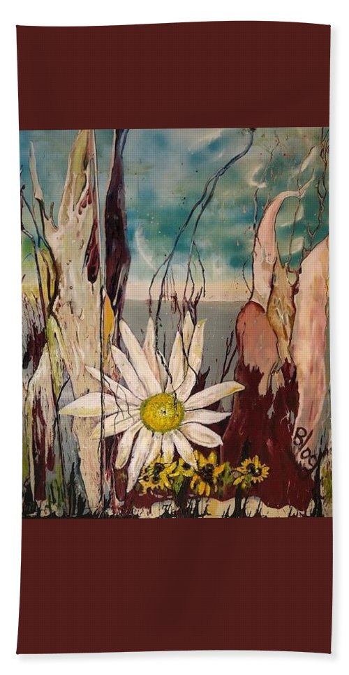 Trees Beach Towel featuring the painting A Moment by Peggy Blood