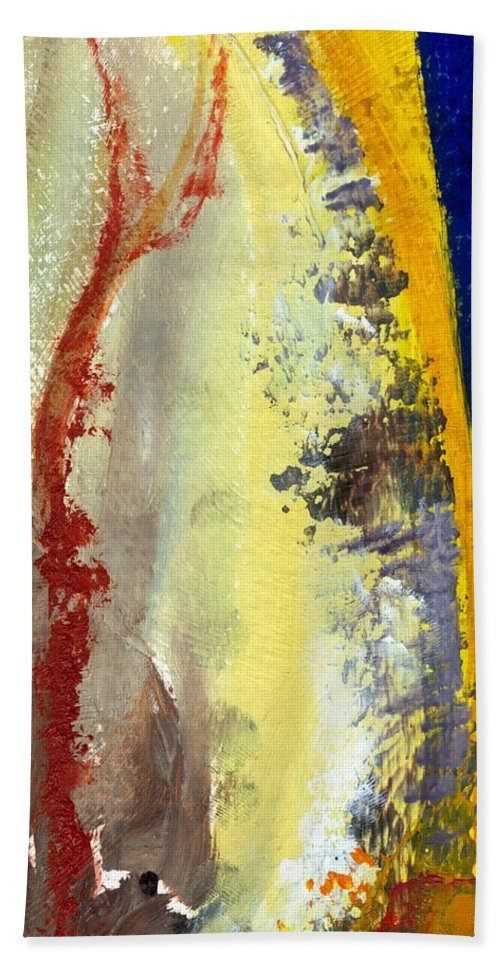 Rustic Beach Towel featuring the painting Abstract Color Study ll by Michelle Calkins