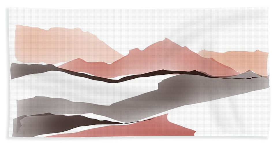 Southwestern Beach Towel featuring the painting Abstract Rocks by Luisa Millicent