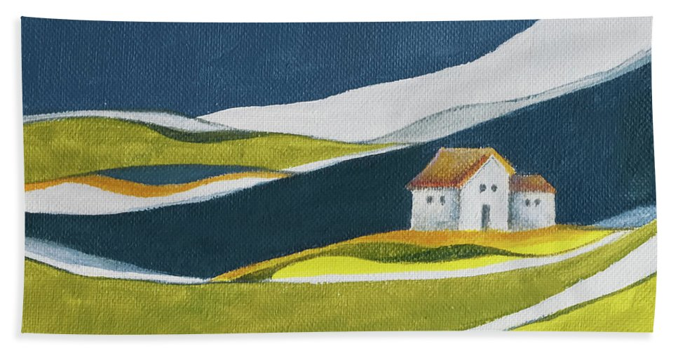 Home Beach Towel featuring the painting Almost home by Aniko Hencz