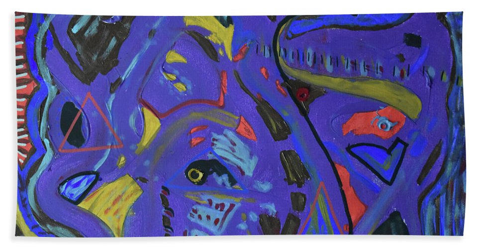 Colorado Beach Towel featuring the painting Apparition by Pam Roth O'Mara