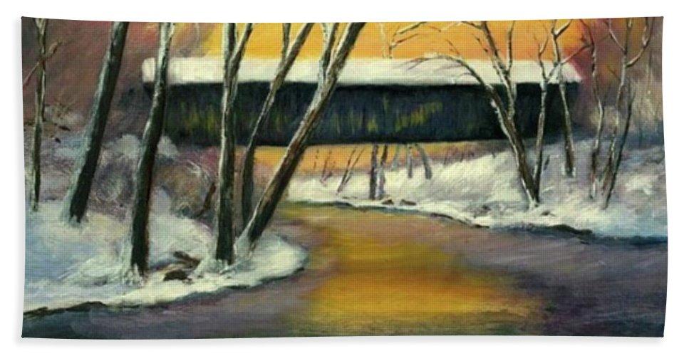Kentucky Beach Towel featuring the painting Bennett by Gail Kirtz