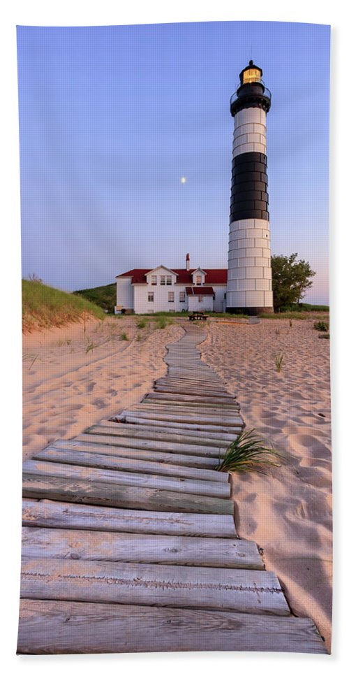 3scape Photos Beach Towel featuring the photograph Big Sable Point Lighthouse by Adam Romanowicz