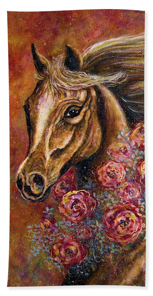 Horse Beach Towel featuring the painting Champion by Natalie Holland