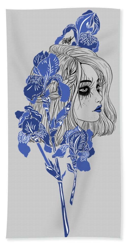 Digital Art Beach Towel featuring the digital art China girl by Elly Provolo