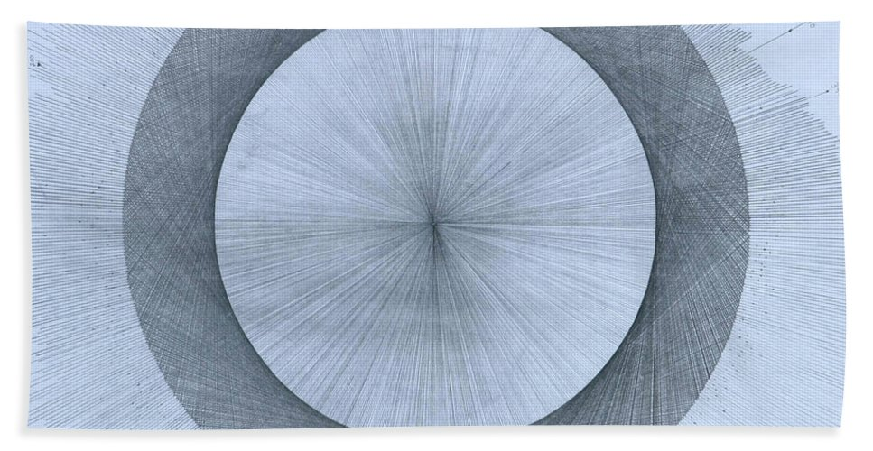 Perfect Beach Towel featuring the drawing Circles do not exist by Jason Padgett