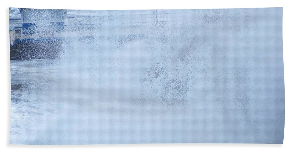 Waves Beach Towel featuring the photograph Close one by Christopher Rowlands