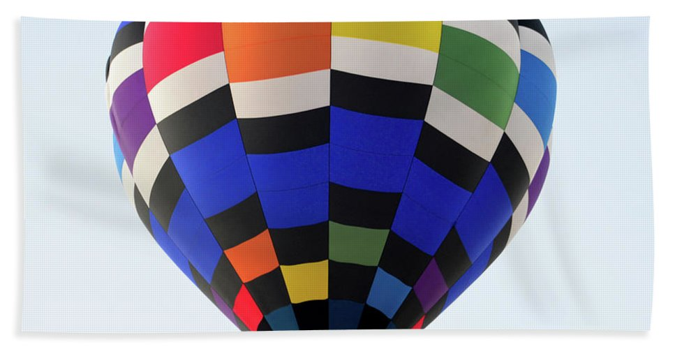 Hot Air Balloon Beach Towel featuring the photograph Colors of the Fiesta by David Lee Thompson