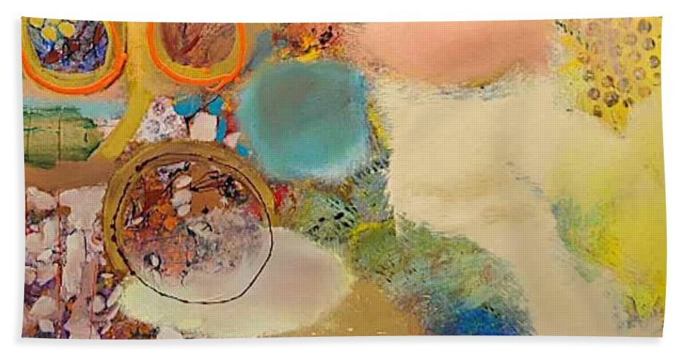 Landscape Beach Towel featuring the painting Concertion for Horn in D by Allan P Friedlander