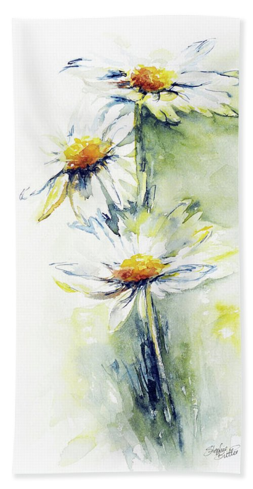 Flower Beach Towel featuring the painting Daisy Chain by Stephie Butler