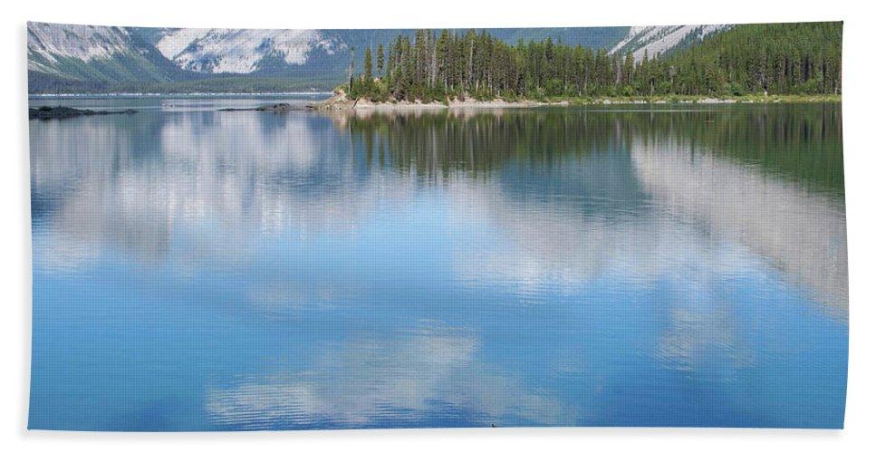 #kananaskis #lake #alberta #canada Beach Towel featuring the photograph Float by Jacquelinemari