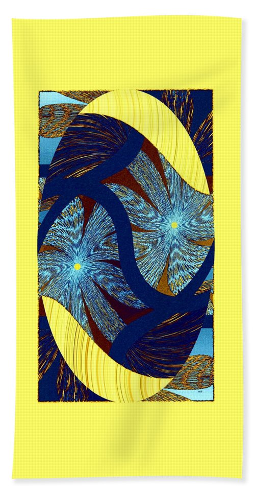 Abstract Beach Towel featuring the digital art Floral Expressionism by Will Borden