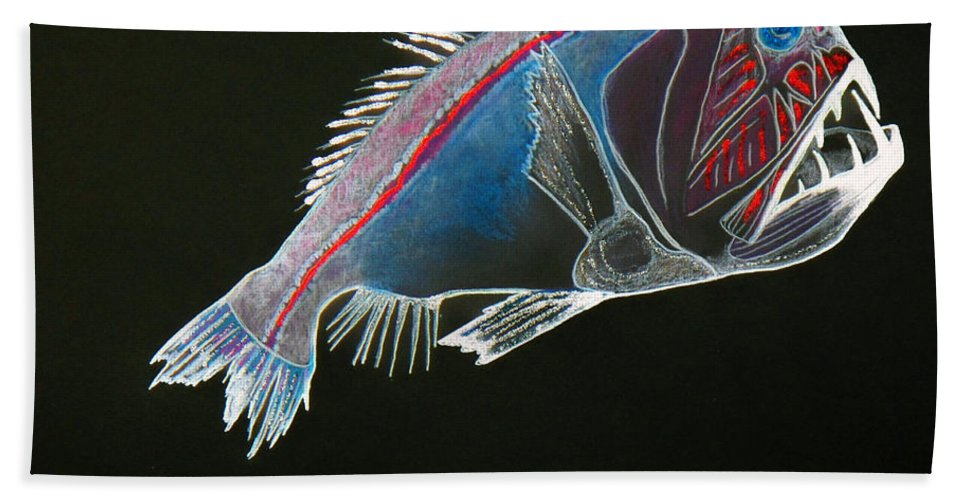 Fossil Beach Towel featuring the drawing From The Abyss by Sergey Bezhinets