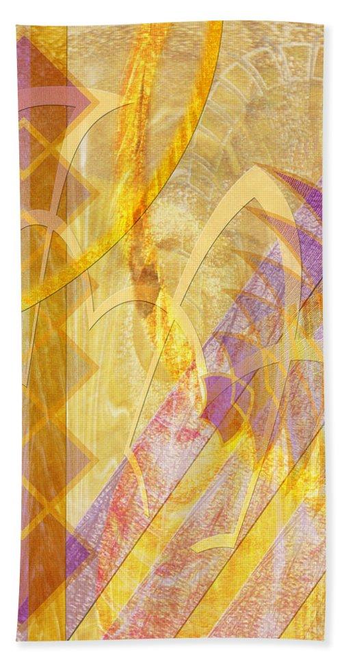 Gold Fusion Beach Towel featuring the digital art Gold Fusion by John Robert Beck