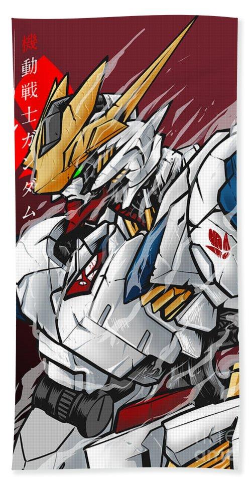 Gundam Barbatos Lupus rex Beach Towel