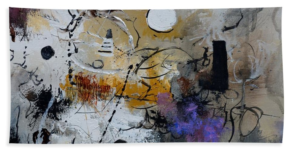 Abstract Beach Towel featuring the painting Hamilcar s strategy by Pol Ledent