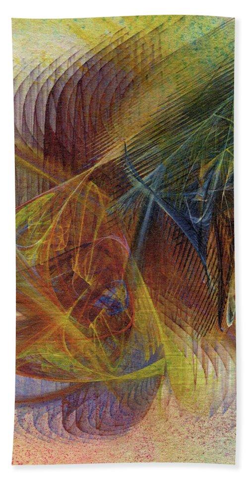 Harnessing Reason Beach Towel featuring the digital art Harnessing Reason by John Robert Beck