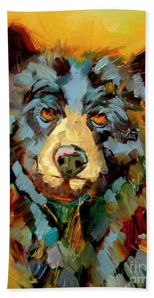Bear Beach Towel featuring the painting Hot Momma by Diane Whitehead
