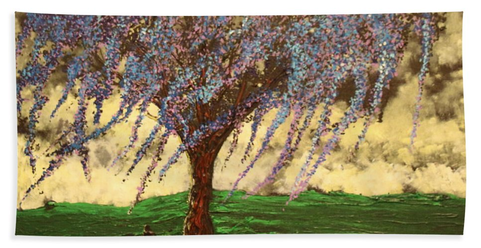Landscape Beach Towel featuring the painting Inspiration of What Dreams May Come by Stefan Duncan