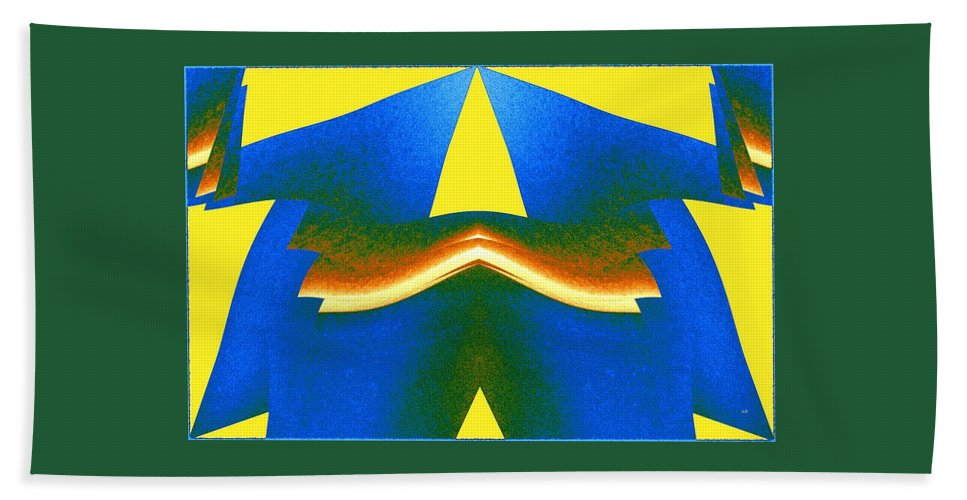 Abstract Beach Towel featuring the digital art Joy Of Color 13 by Will Borden