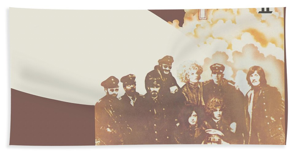 Album Beach Towel featuring the digital art Led Zeppelin II Remastered by Led Zeppelin by Poster Frame