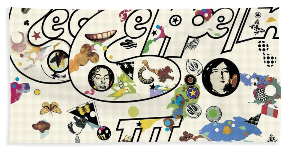 Album Beach Towel featuring the digital art Led Zeppelin III Remastered by Led Zeppelin by Poster Frame