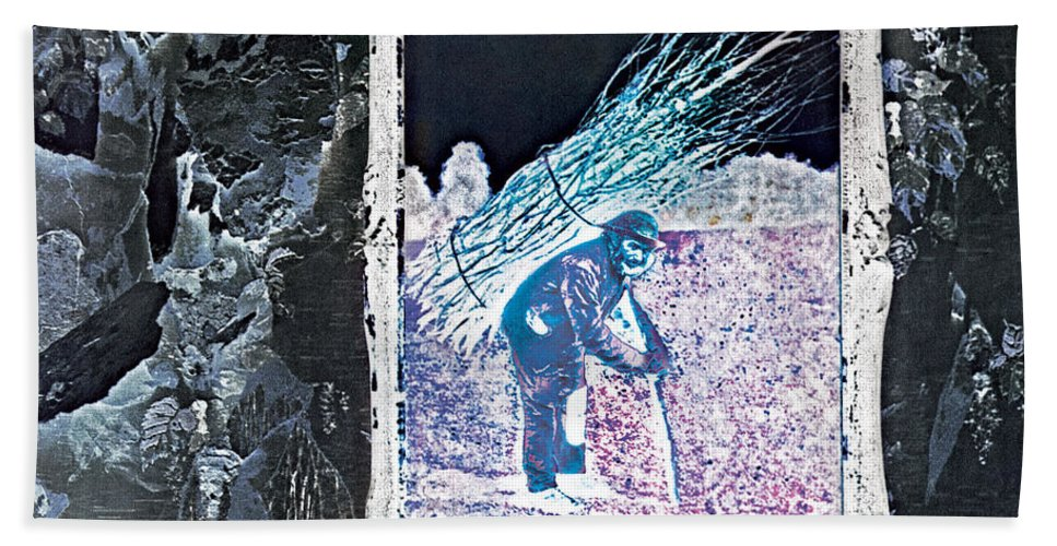 Album Beach Towel featuring the digital art Led Zeppelin IV Deluxe Edition by Led Zeppelin by Poster Frame