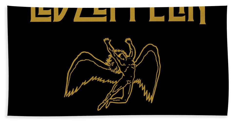 Album Beach Towel featuring the digital art Led Zeppelin x Led Zeppelin by Led Zeppelin by Poster Frame
