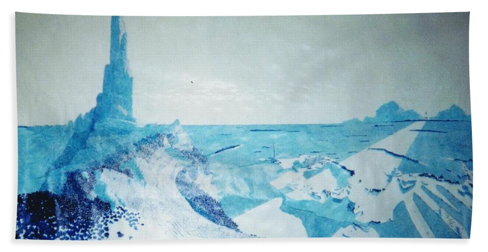 Landscape Beach Towel featuring the painting Line of Sight by A Robert Malcom