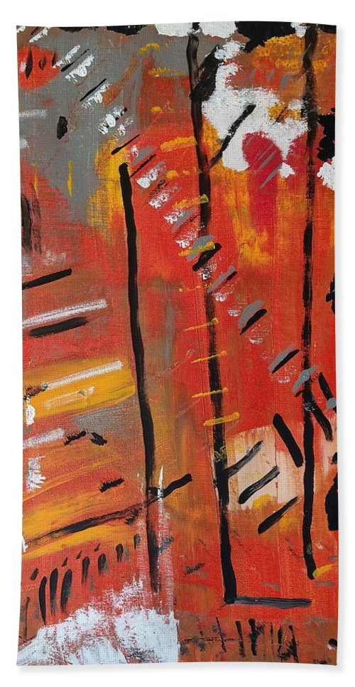 Colorado Beach Towel featuring the painting Looking Like October by Pam Roth O'Mara