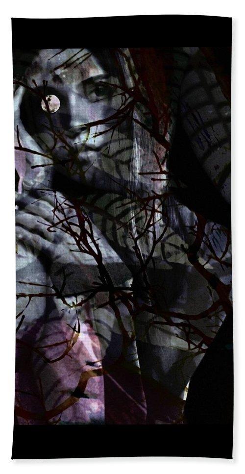 Woman Beach Towel featuring the digital art Luna by Gunilla Munro Gyllenspetz