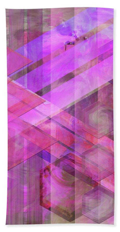 Magenta Haze Beach Towel featuring the digital art Magenta Haze by John Robert Beck