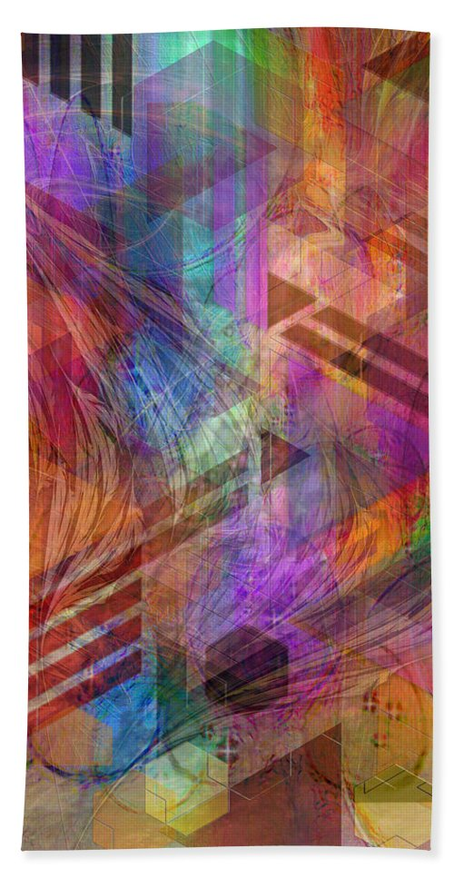 Magnetic Abstraction Beach Towel featuring the digital art Magnetic Abstraction by John Robert Beck