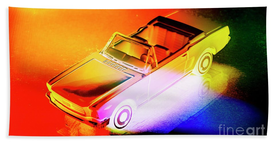 Neon Beach Towel featuring the photograph Neon Drives by Jorgo Photography - Wall Art Gallery