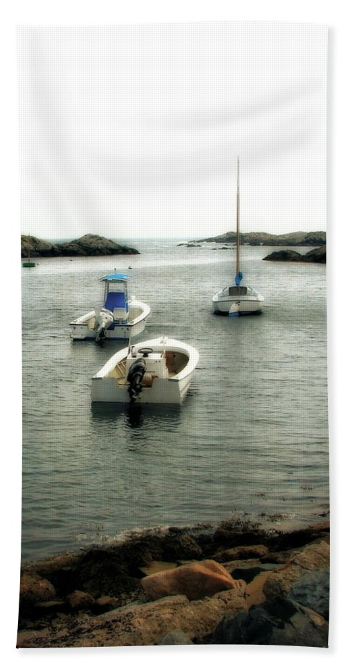 Ocean Beach Towel featuring the photograph Newport Rhode Island Shoreline by Michelle Calkins