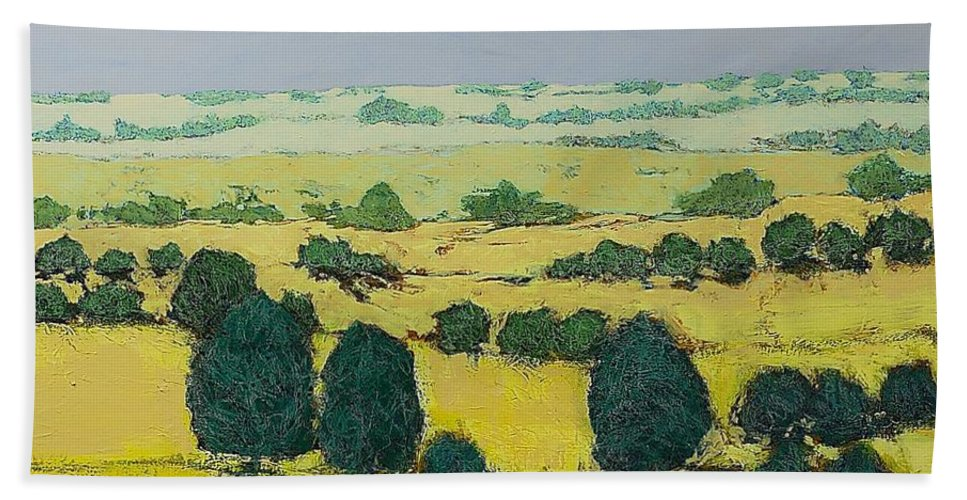 Landscape Beach Towel featuring the painting Next Hill by Allan P Friedlander