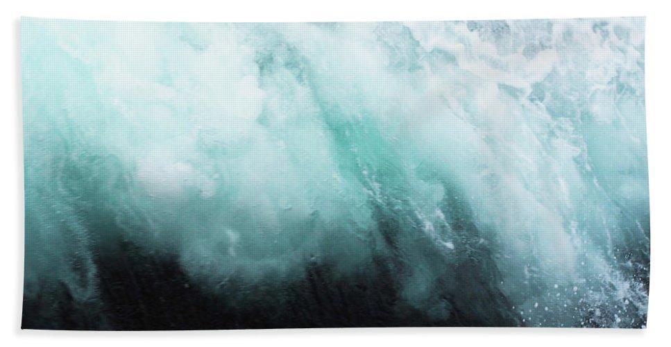 Ocean Beach Towel featuring the photograph Ocean Spray by Cassia Beck