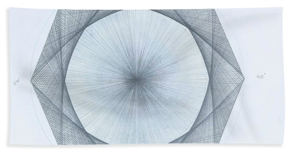 Octagon Beach Towel featuring the drawing Octagon limits by Jason Padgett