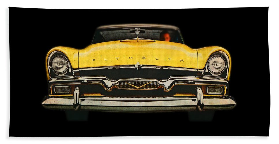 Big Yellow Plymouth Beach Towel featuring the digital art Plymouth by Charles Stuart