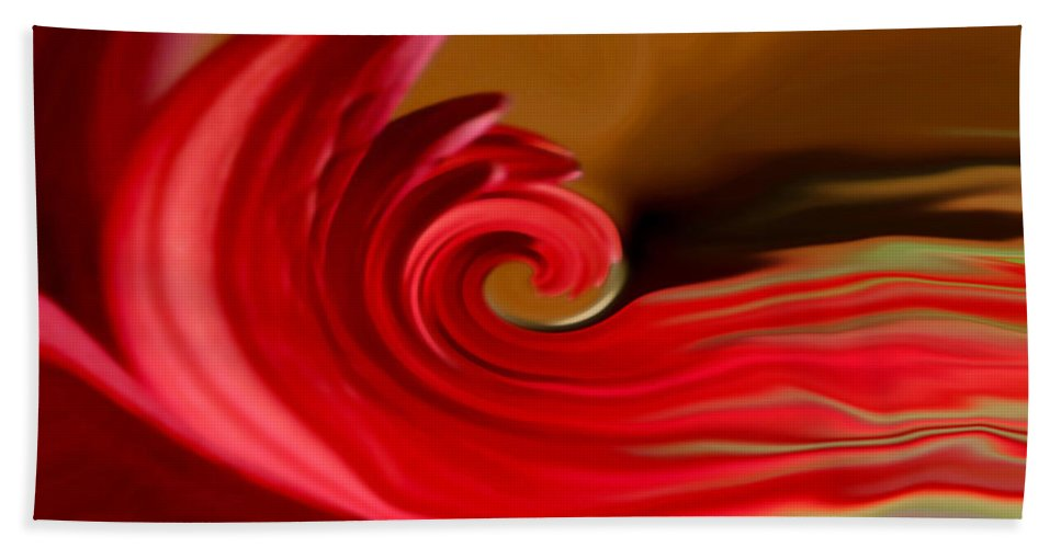 Abstract Art Beach Towel featuring the photograph Red Sea by Linda Sannuti