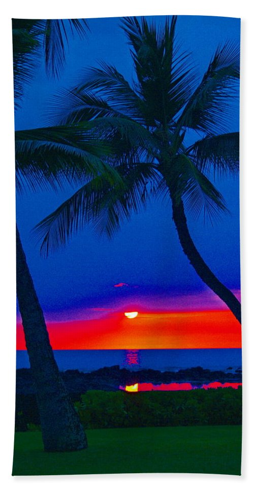Nature Beach Towel featuring the photograph Red Sunset by Athala Bruckner