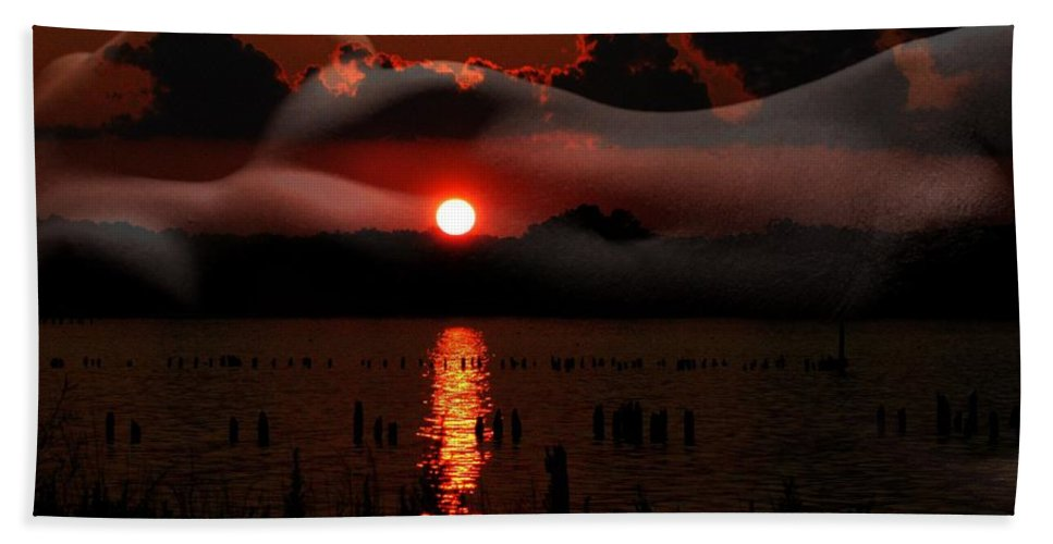 Clay Beach Towel featuring the photograph Sensual Sunset by Clayton Bruster