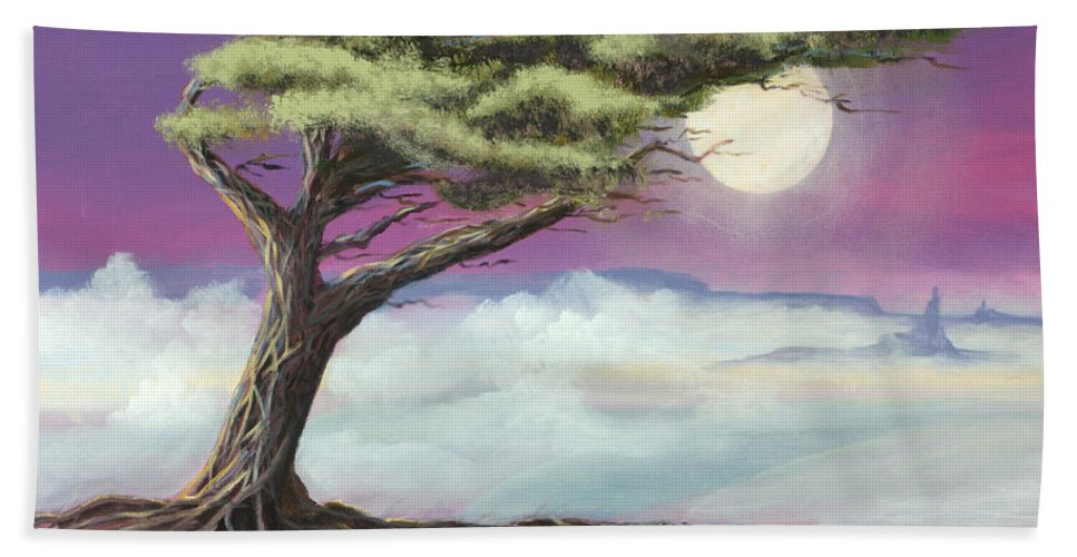 Landscape Beach Towel featuring the painting Sentinel of the Canyon by Jerry McElroy