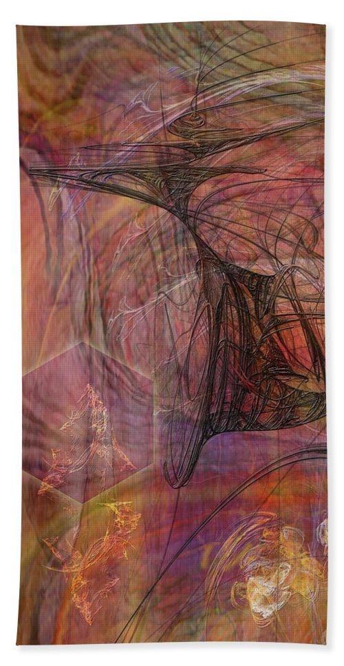 Shadow Dragon Beach Towel featuring the digital art Shadow Dragon by John Robert Beck