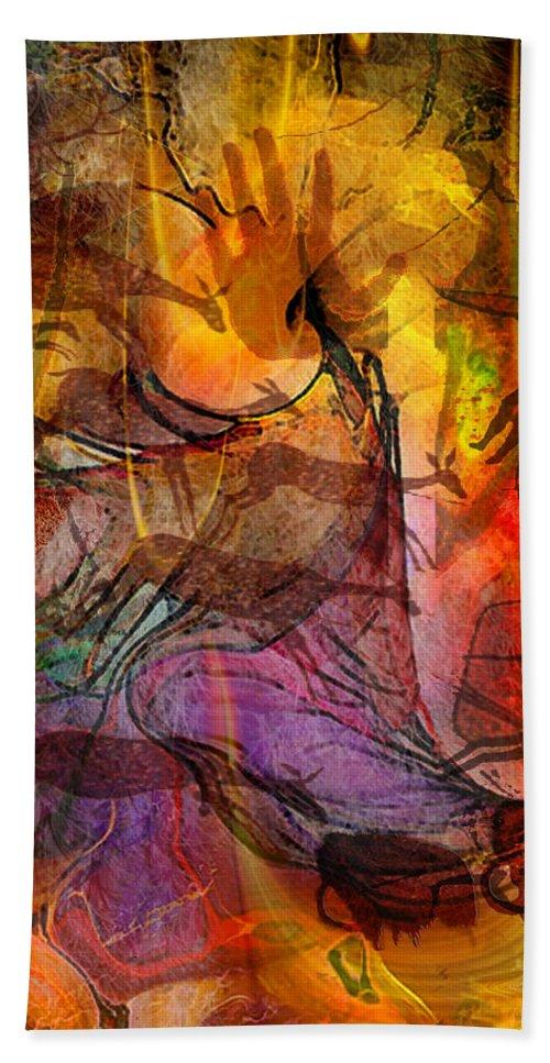 Shadow Hunters Beach Towel featuring the digital art Shadow Hunters by John Robert Beck