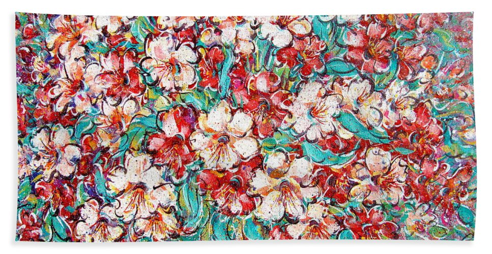 Flowers Beach Towel featuring the painting Shakespeare Scents by Natalie Holland
