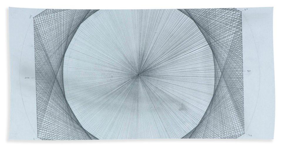 Solar Beach Towel featuring the drawing Solar Pi by Jason Padgett