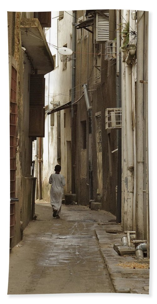 3scape Beach Towel featuring the photograph Stone Town by Adam Romanowicz